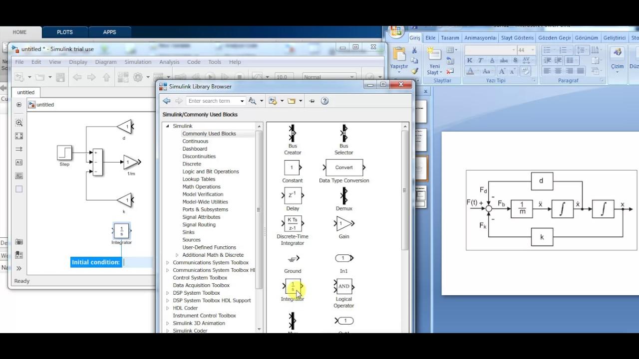 Tek Serbeslik Dereceli Osilator - Matlab / Simulink Modelleme (SDOF  Oscillator)