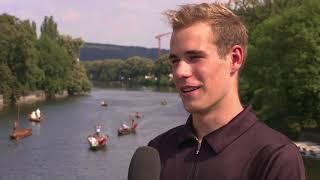 1. Bitburger 0,0% Triathlon-Bundesliga Tübingen 2018 - Dion Heindl im Interview