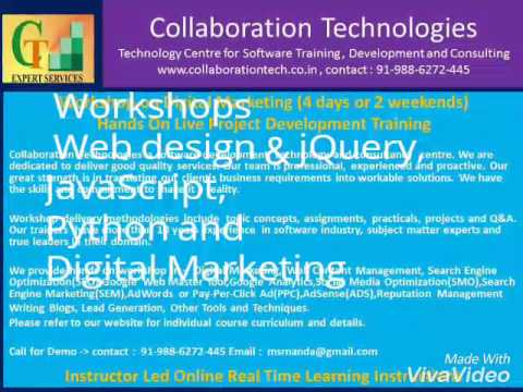 Workshop on Web Design & jQuery, (4 days or 2 weekends)Hands On Live Project Development Training