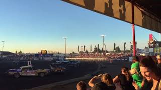 2017 North Idaho fair demo derby heat 3