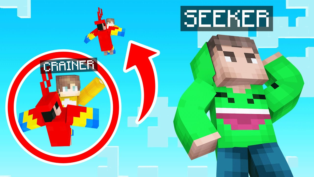 Hiding On A BIRD As TINY PLAYER In Minecraft! (Hide & Seek)