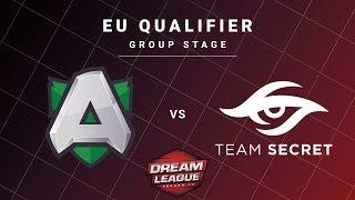 Alliance vs Team Secret Game 2 - DreamLeague S13 EU Qualifiers: Group Stage