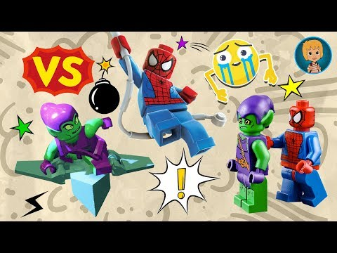 SPIDERMAN vs GREEN GOBLIN Games for Kids - LEGO Spider-Man Super Heroes Mighty Micros TOYS REVIEW