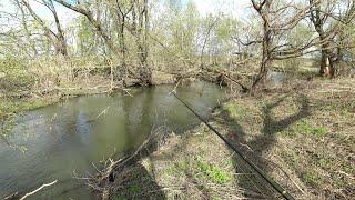 Рыбалка на Щуку на Маленькой Речке Открыл весенний сезон спиннинга