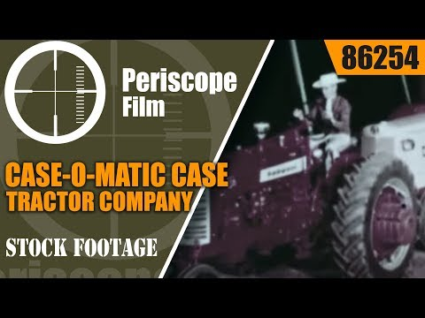 CASE-O-MATIC CASE TRACTOR COMPANY 1960 PRODUCT LINE FILM 86254