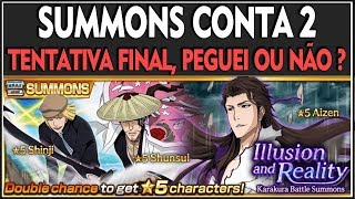 Bleach Brave Souls : CONTA 2, PEGUEI O AIZEN?? Illusion & Reality Summons [UPGames] Video