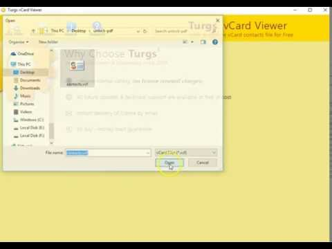 How to Open vCard File in Windows 10, 8, 7, Vista? - YouTube
