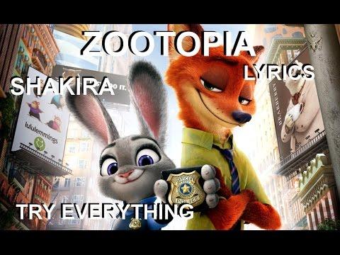 Ver Video de Shakira Zootopia  - Shakira - Try Everything LYRICS VIDEO
