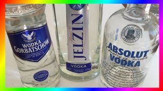 The Best Vodka? (Absolut vs. Gorbatschow vs. Jelzin)(today i taste adult candy - OOOOPS. Im really not a big fan of alcohol (as long as its less than 1 liter per night) i like drinking more than 1 liter.. quite cool of me.., 2016-06-04T15:00:01.000Z)