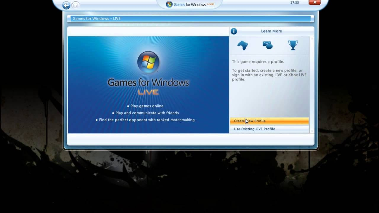 Creat Local Accout In Games For Windows Live On Windows 10