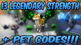 *NEW* 13 LEGENDARY STRENGTH + PET CODES! (Roblox Dominus Lifting Simulator)