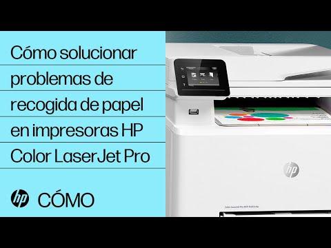 Cómo solucionar problemas de recogida de papel en impresoras HP Color LaserJet Pro | HP LaserJet