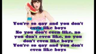 Katy Perry-Ur so Gay (instrumental and Lyrics)