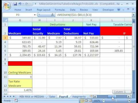 calculating commission in excel