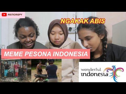 REAKSI ORANG ASING NONTON MEME/PARODI PESONA INDONESIA! Nigeria + Sri Lanka!