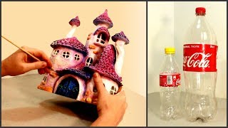 ❣DIY Whimsy Fairy House Lamp Recycling Coke Plastic Bottles❣