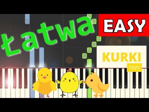 🎹 Były sobie kurki trzy (Twinkle, Twinkle, Little Star) - Piano Tutorial (łatwa wersja) (EASY) 🎹