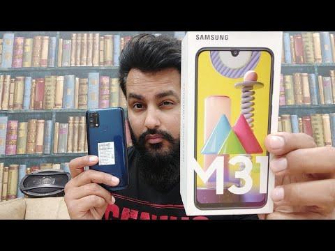 Samsung Galaxy M31 Ocean Blue, 6GB RAM, 128GB Storage (UNBOXING) HINDI