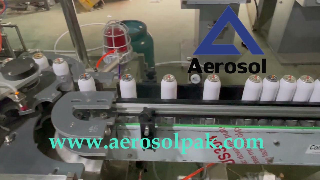 Aerosol Spraydousen Füllmaschinn Checkweigher Waasser-Bad Leckage Tester Cap Presser Verpakungslinn