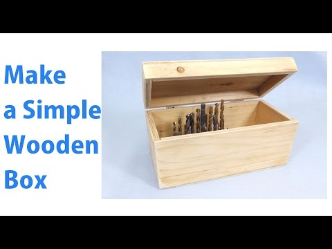 Making a Simple Wooden Storage Box |  A Woodworkweb woodworking video