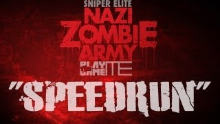 NAZI ZOMBIE ARMY w/PTG: SPEED RUN on Library of Evil!! 1:18 :D