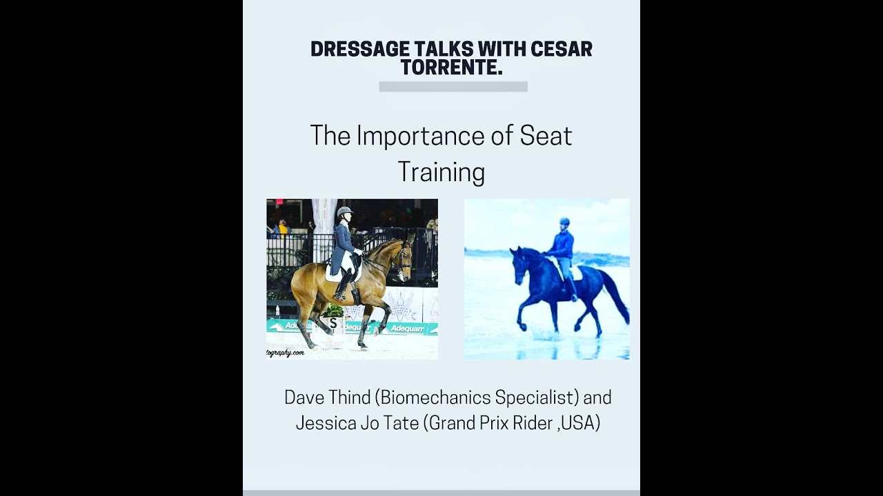 Dressage Talk No. 8, featuring JJ Tate and Dave Thind. The Importance of Seat Training.