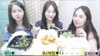 파니 트랜스젠더 3명 치킨 먹방 bhc 별코치 요래요래 korean food eating show mukbang chiken   트프리카