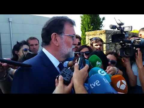 """Rajoy, sobre Albor: """"No puedo decir otra cosa hoy que muchísimas gracias"""""""