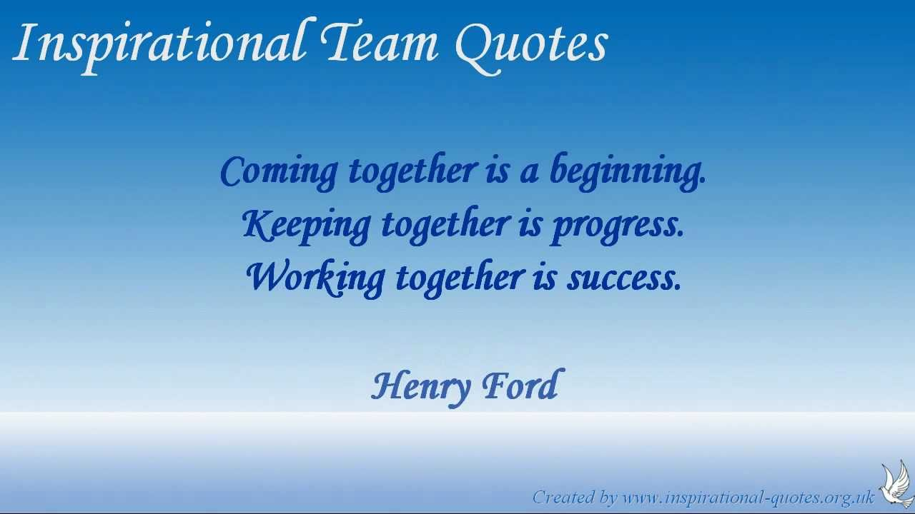 Inspirational Quotes About Teamwork Inspirational Team Quotes  Youtube