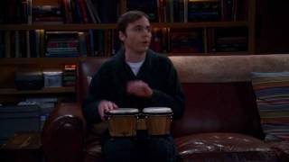 The Big Bang Theory ~ Sheldon Playing The Bongos ~ The Werewolf Transformation