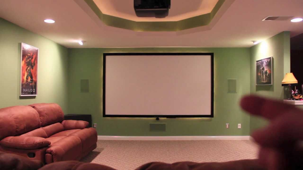 DIY Home Theater Screen - YouTube