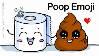 How to Draw Poop Emoji Easy and Cute
