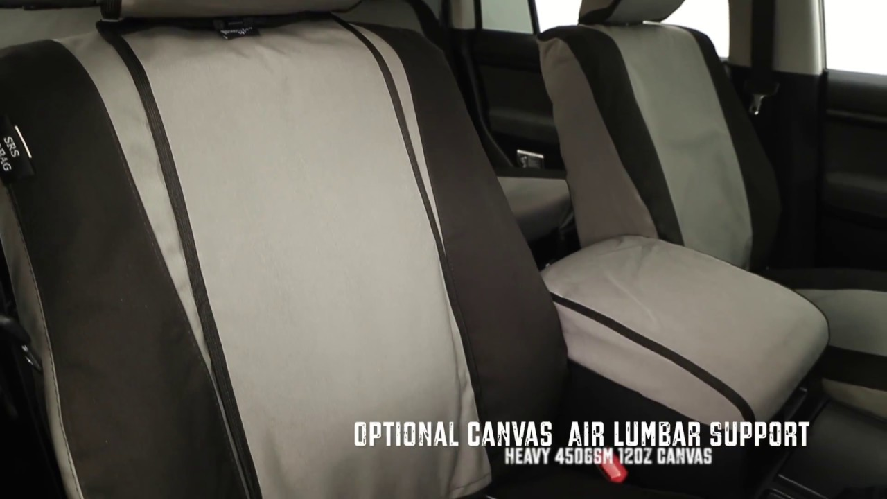 MSA 4x4 Canvas Seat Covers Lumbar Support