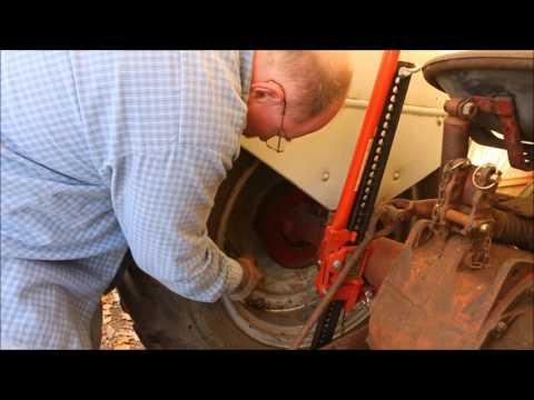 Ford 8N Tire Repair ~ Removing The Rim ~ By Old Sneelock's Workshop