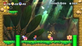 New Super Mario Bros U 100% Walkthrough Episode 12 - World 5 - Soda Jungle (part 1)