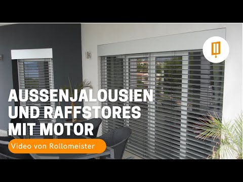 rollomeister au enjalousien und raffstores mit motor und. Black Bedroom Furniture Sets. Home Design Ideas
