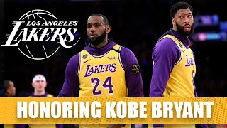 Lebron, Ad Honor Kobe Bryant On Ceremonial Night In Blazers Vs. Lakers | 2019-20 Nba Highlights