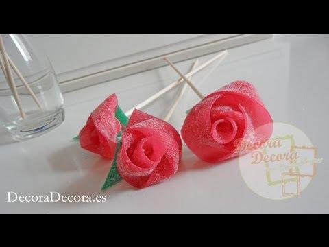 Rosas de gominola youtube - Manualidades con gominolas ...