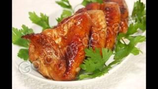 Холодные закуски мясные:Куриные крылышки в соево-имбирном маринаде