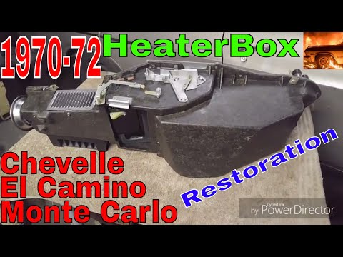 1970 1971 1972 Chevelle El Camino Monte Carlo Heater Box Restoration