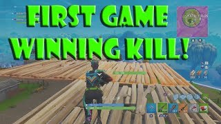 My FIRST GAME WINNING KILL Fortnite -Worst Player to Bes-t Ep 9