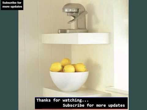 kitchen corner shelf turquoise decor wall shelves picture ideas shelving youtube