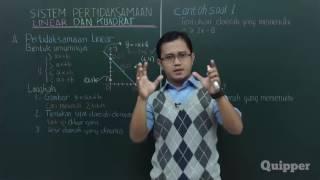 Gambar cover Quipper Video - Matematika - Sistem Pertidaksamaan Linear dan Kuadrat