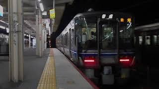 北陸本線敦賀行き最終列車・米原駅を出発