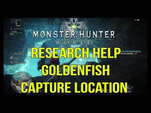 Monster Hunter World - Research Help: Goldenfish Capture