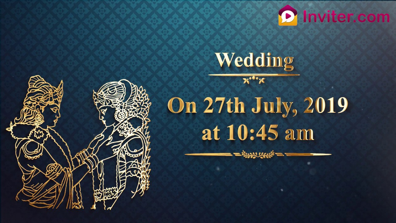 Wedding Video Invitations New 2019 Inviter Com Youtube