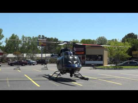 Virginia Beach Police helicopter takeoff