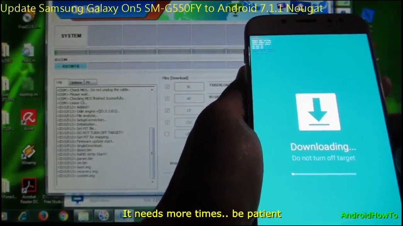 Update Samsung Galaxy On5 SM-G550FY to Android 7 1 1 Nougat