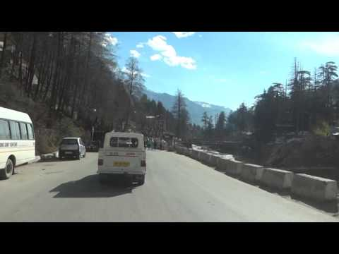 Manali City and Beas River