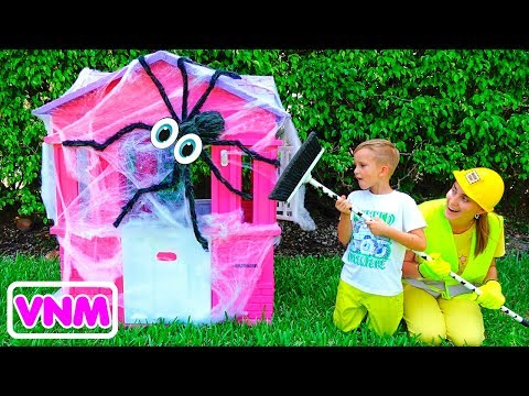 Vlad và Mama sửa chữa nhà chơi trẻ em